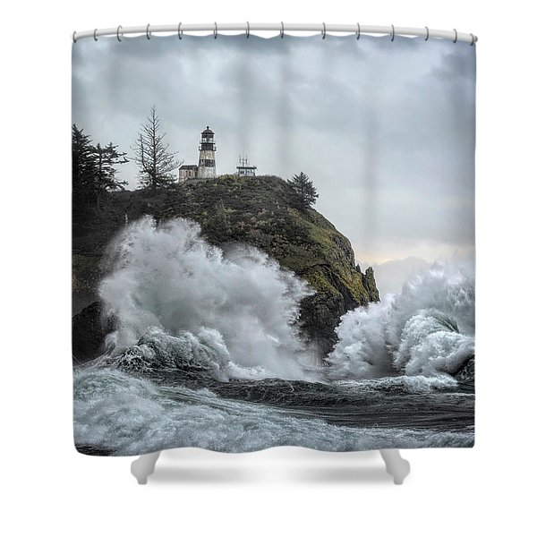 Cape Disappointment Chaos Shower Curtain