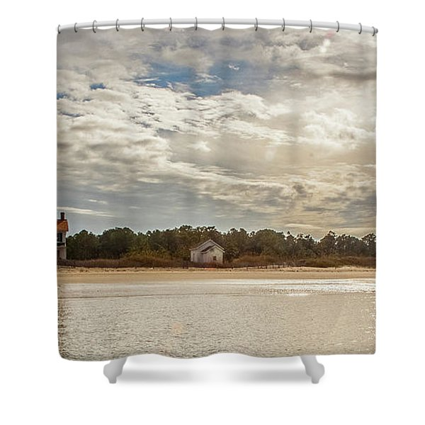 Cape Lookout Lighthouse No. 3 Shower Curtain