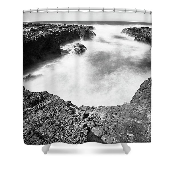Shower Curtain featuring the photograph Cape Perpetua by Whitney Goodey