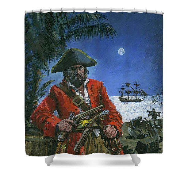 Captain Kidd Shower Curtain