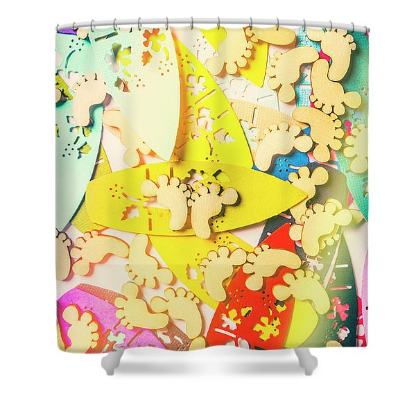 Card Boarding Shower Curtain