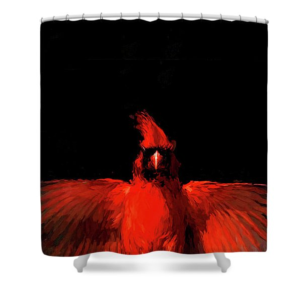 Cardinal Drama Shower Curtain