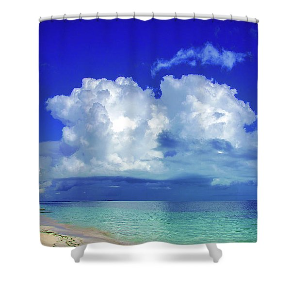 Caribbean Clouds Shower Curtain