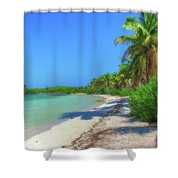 Caribbean Palm Beach Shower Curtain
