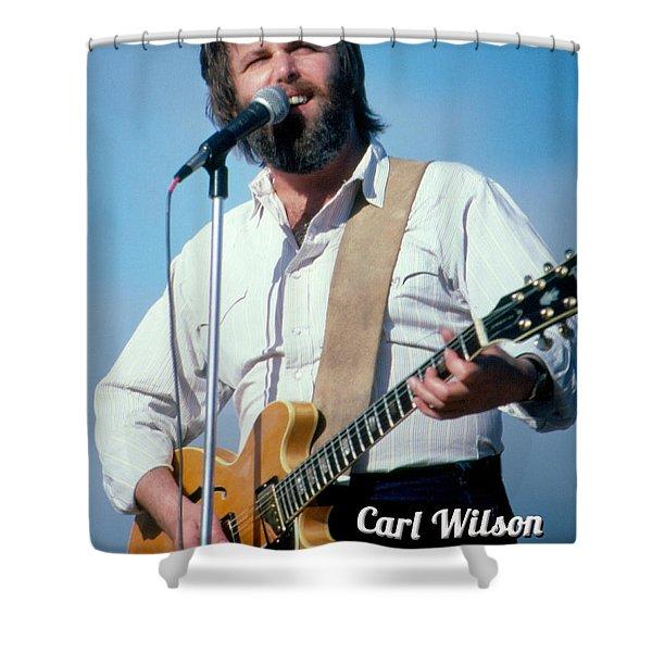 Carl Wilson Guitar Shower Curtain