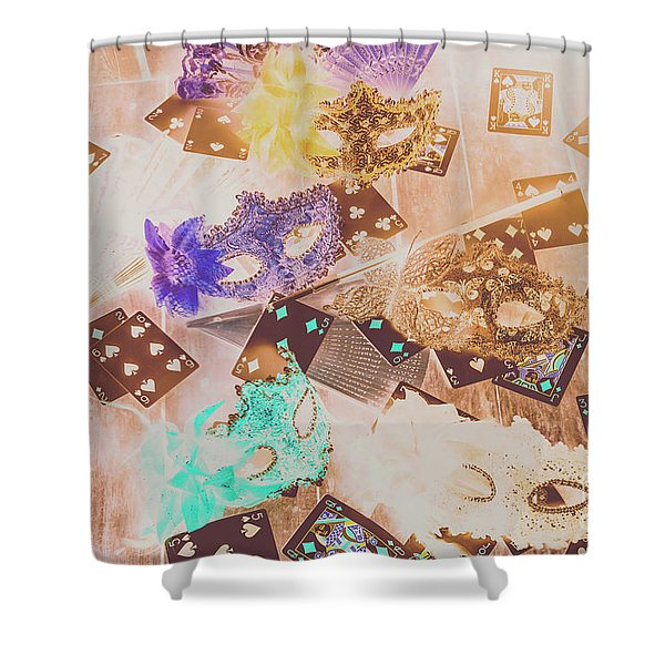 Carnival Of Cards Shower Curtain