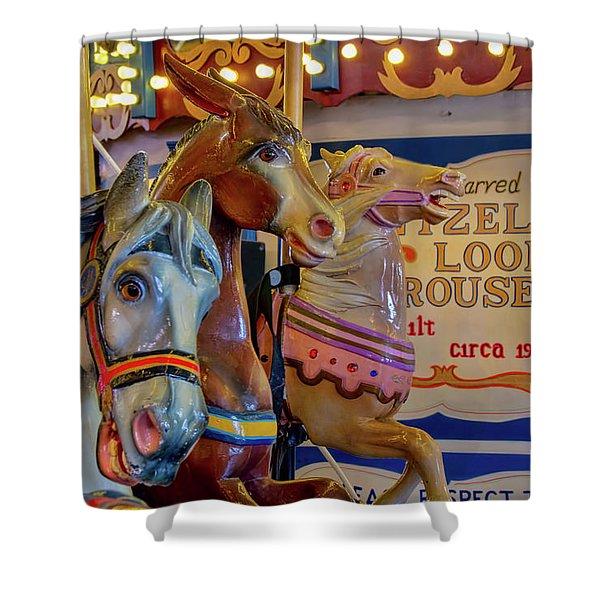 Carousel Friends Shower Curtain
