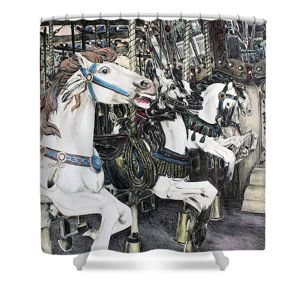 Carousel Of Dreams Shower Curtain