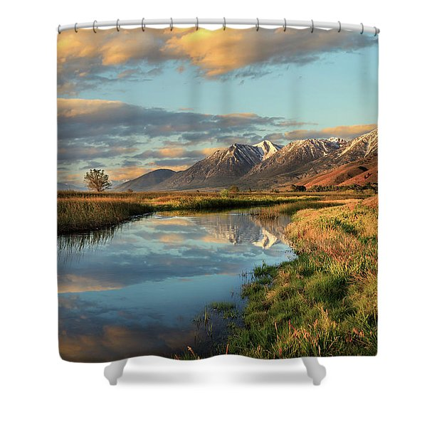 Carson Valley Sunrise Shower Curtain