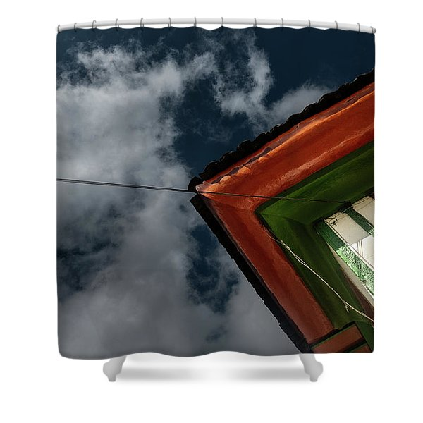 Shower Curtain featuring the photograph Casa Esquinera Cafetera by Juan Contreras