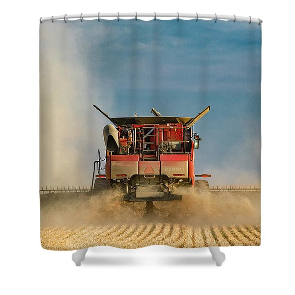 Case Ih From Behind Shower Curtain