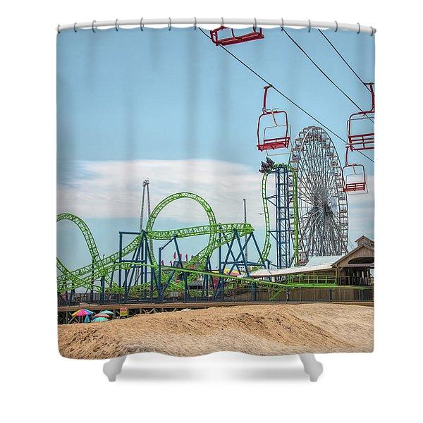 Casino Pier - Seaside Heights Shower Curtain