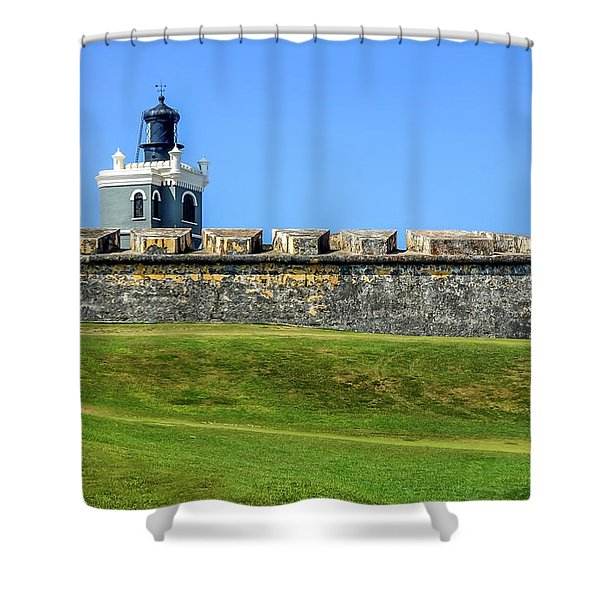 Shower Curtain featuring the photograph Castillo San Felipe Del Morro, Old San Juan, Puerto Rico by Dawn Richards
