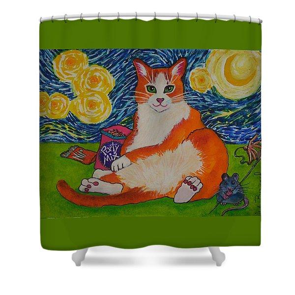 Cat Nipped  Shower Curtain