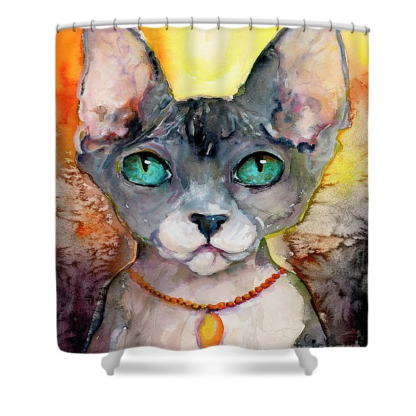 Cat Portrait My Name Is Adorable Shower Curtain