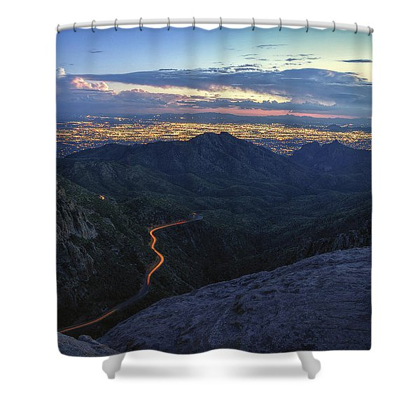 Catalina Highway And Tucson Shower Curtain