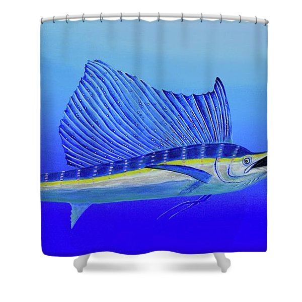 Shower Curtain featuring the painting Catch Me If You Can by Mary Scott