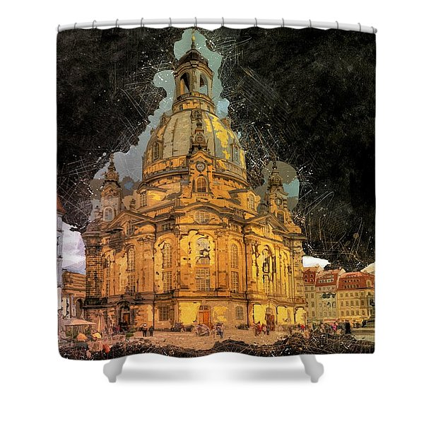 Cathedral, Dresden Shower Curtain