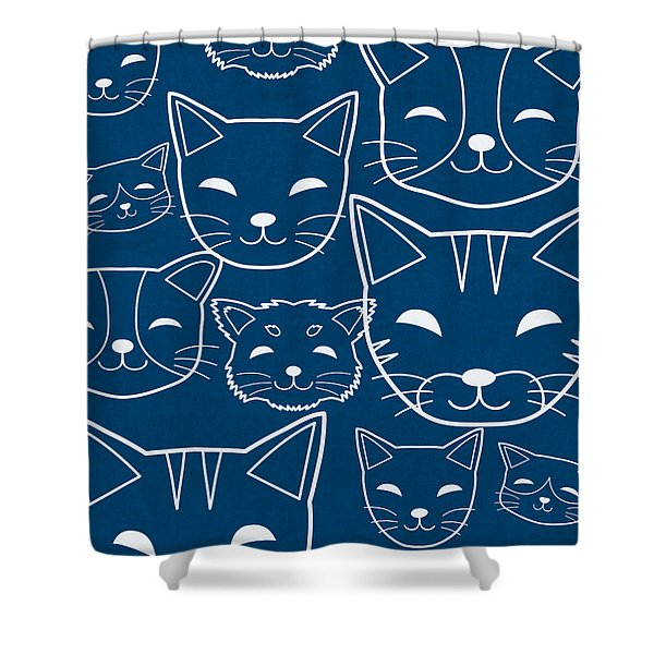Cats- Art By Linda Woods Shower Curtain