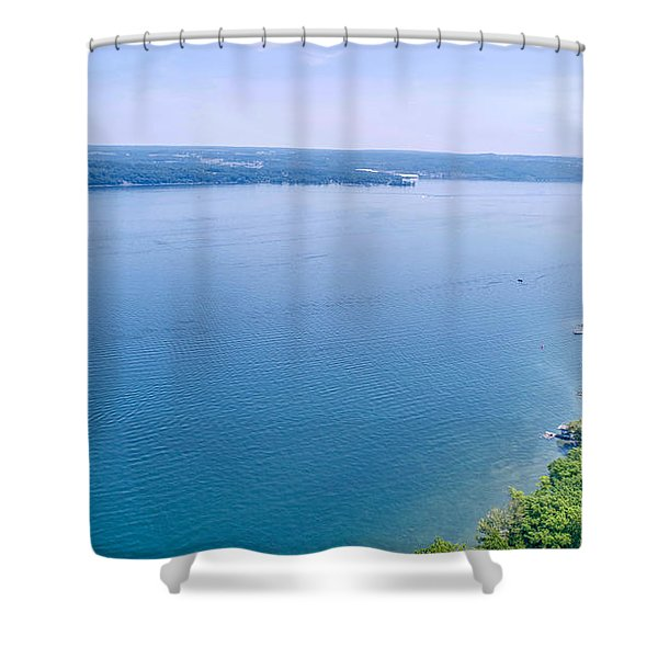 Cayuga From Above Shower Curtain