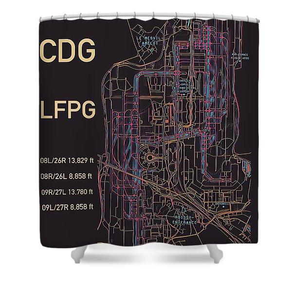 Cdg Paris Airport Shower Curtain