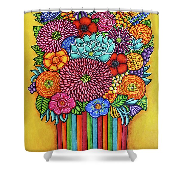 Celebration Bouquet Shower Curtain