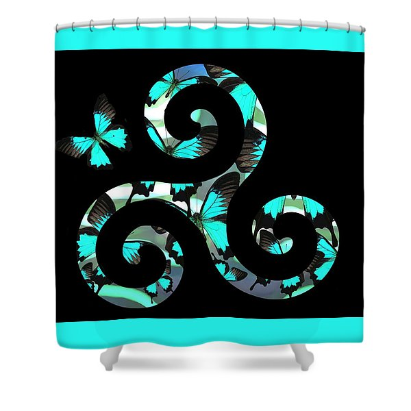 Celtic Spiral 3 Shower Curtain