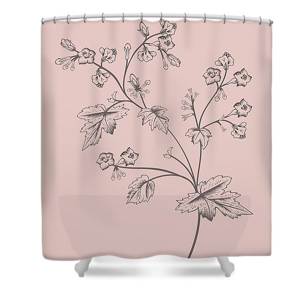 Cerasus Purple Flower Shower Curtain