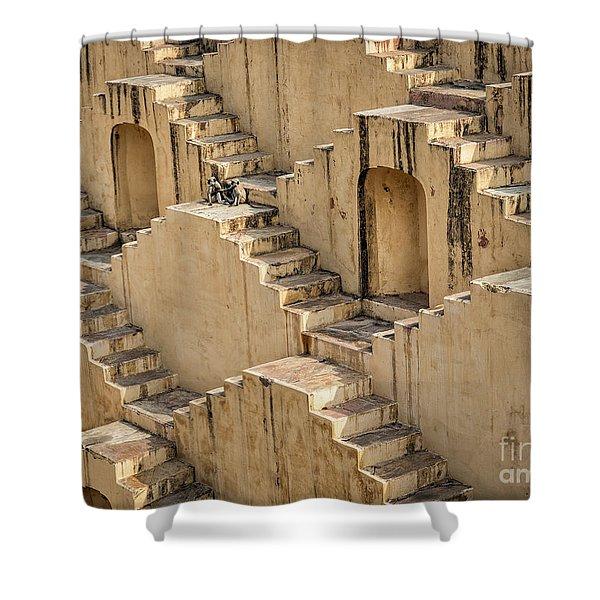 Chand Baori Shower Curtain