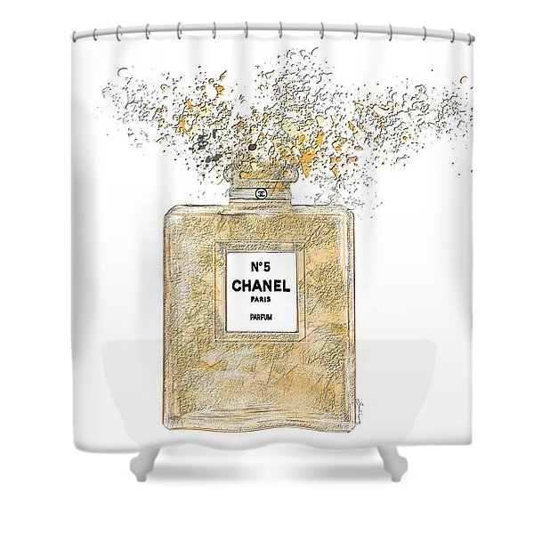 Chanel Explosion Shower Curtain