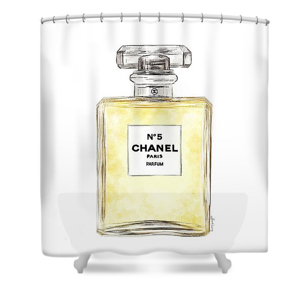 Chanel No. 5  Shower Curtain