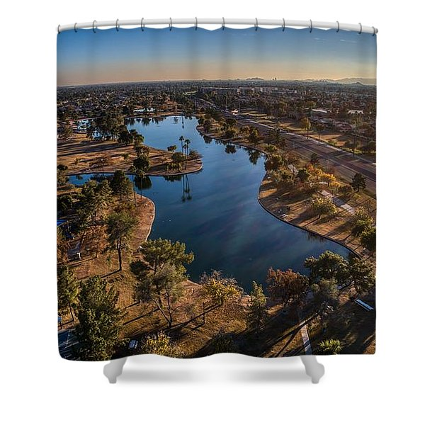 Chaparral Lake Shower Curtain