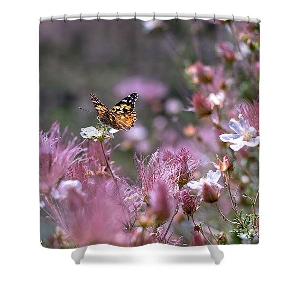 Chasing Butterflies Shower Curtain