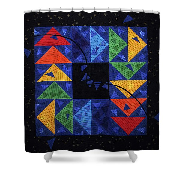 Chasing Geese Shower Curtain