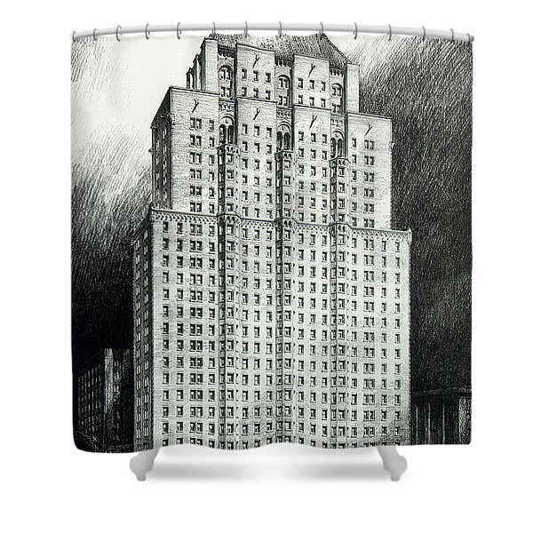 Chateau Crillon Shower Curtain