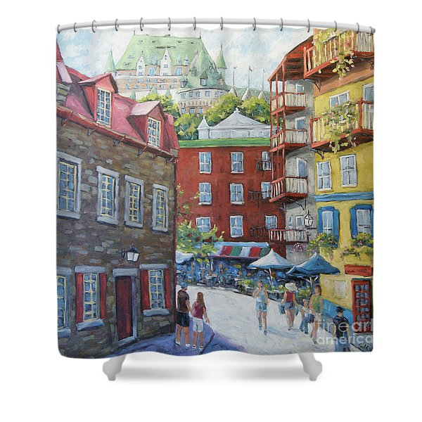 Chateau Frontenac Lower Quebec By Richard Pranke Shower Curtain