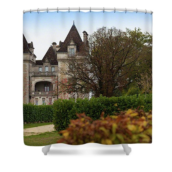 Chateau, Near Beynac, France Shower Curtain
