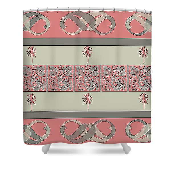 Cheery Coral Pink Shower Curtain