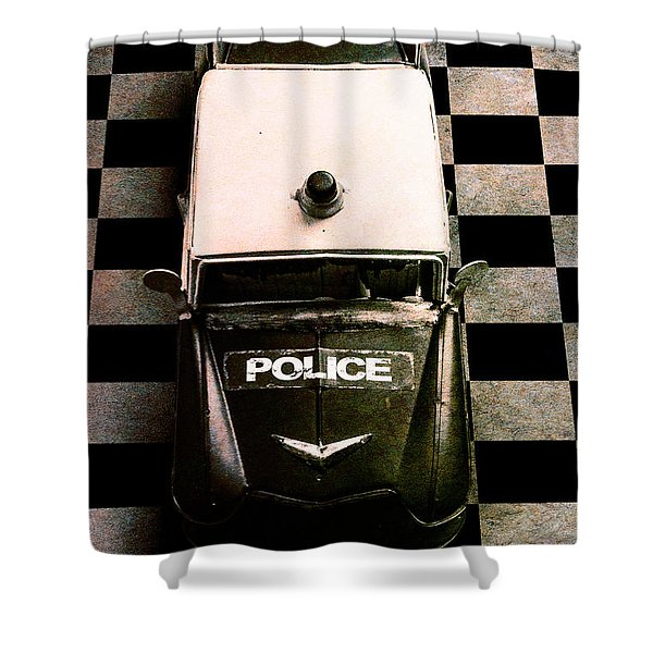 Chequered Past Shower Curtain