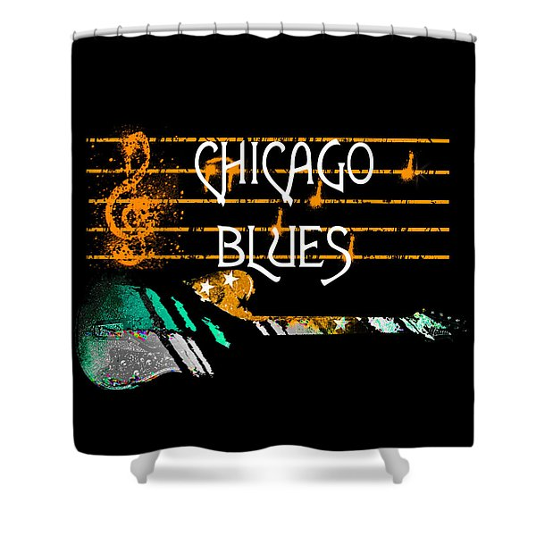 Chicago Blues Music Shower Curtain