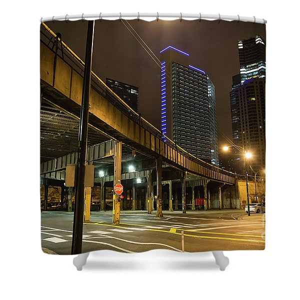 Chicago City Streets Shower Curtain