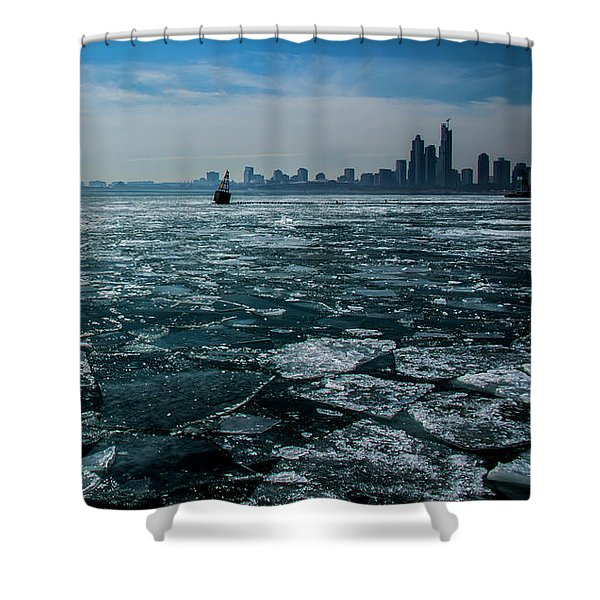 Chicago From Navy Pier 2 Shower Curtain