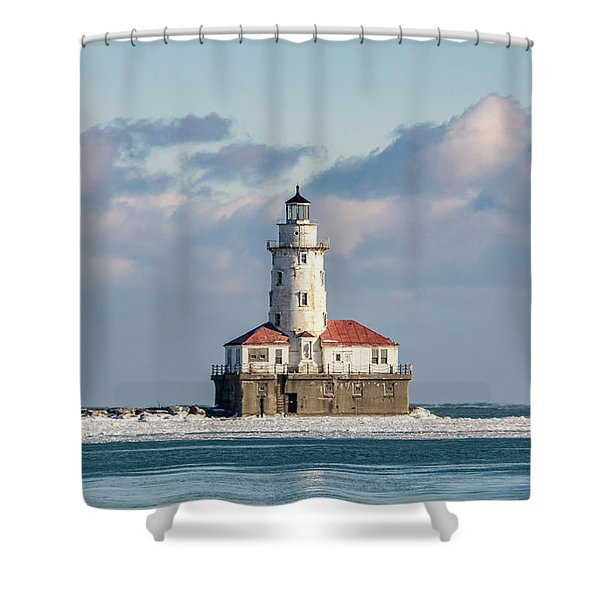 Chicago Harbour Light Shower Curtain