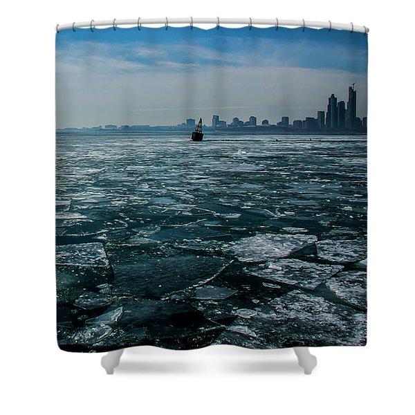 Chicago In Winter Shower Curtain