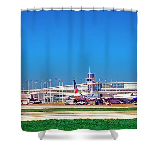 Chicago, International, Terminal Shower Curtain