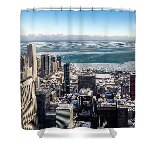 Chicago View Angled Shower Curtain