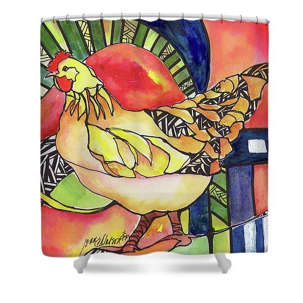 Chicken Red Shower Curtain