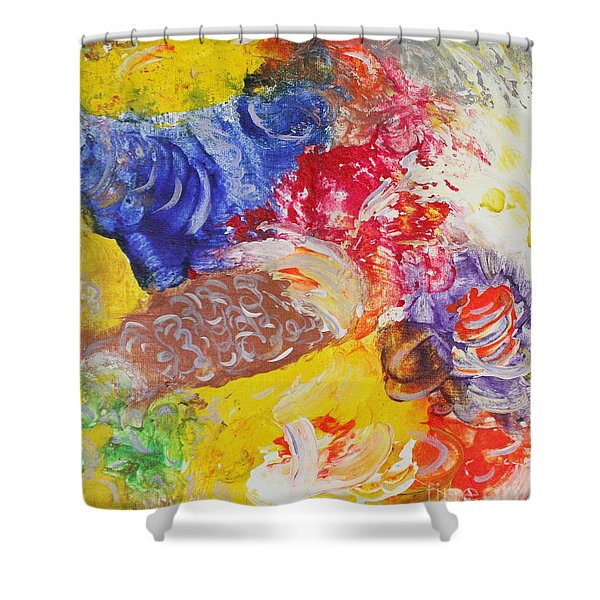 Child Laughter Shower Curtain