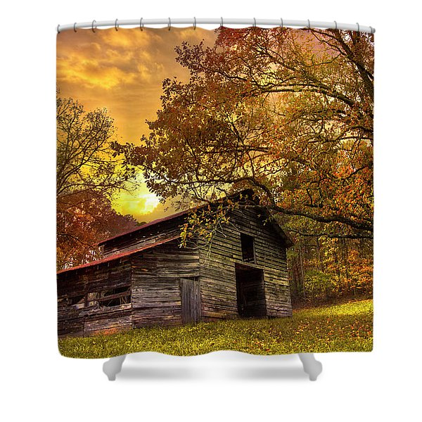 Chill Of An Early Fall Shower Curtain