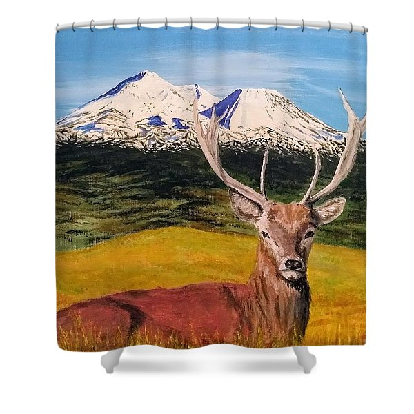 Shower Curtain featuring the painting Chillin' by Kevin Daly